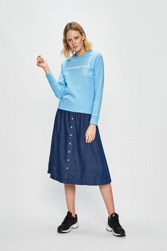Calvin Klein Jeans - Mikina světle modrá