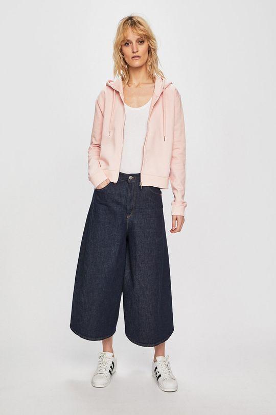 Calvin Klein Jeans - Mikina pastelově růžová