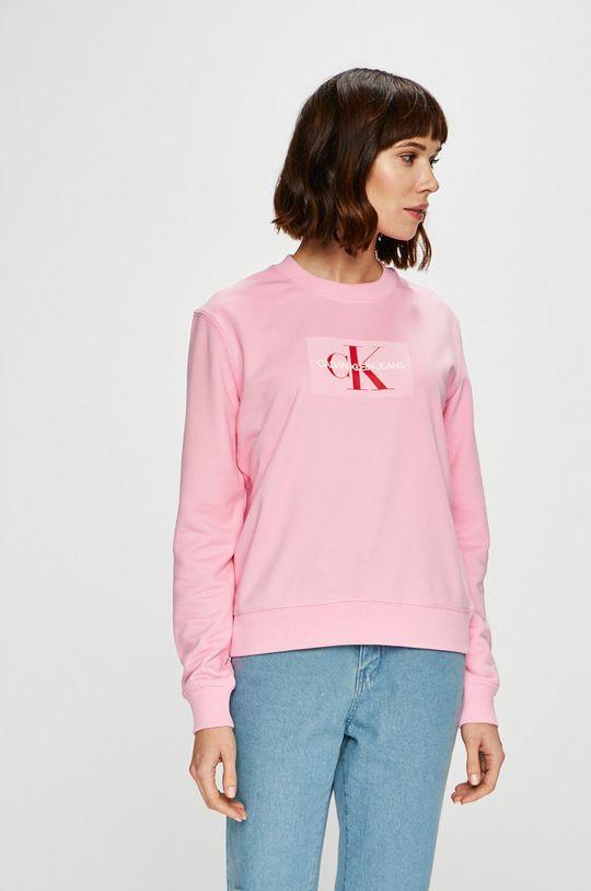 růžová Calvin Klein Jeans - Mikina