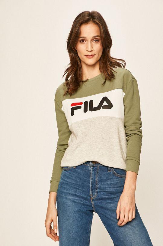 brudny zielony FILA - Bluza 687043 Damski