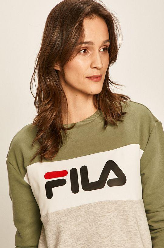 brudny zielony FILA - Bluza 687043