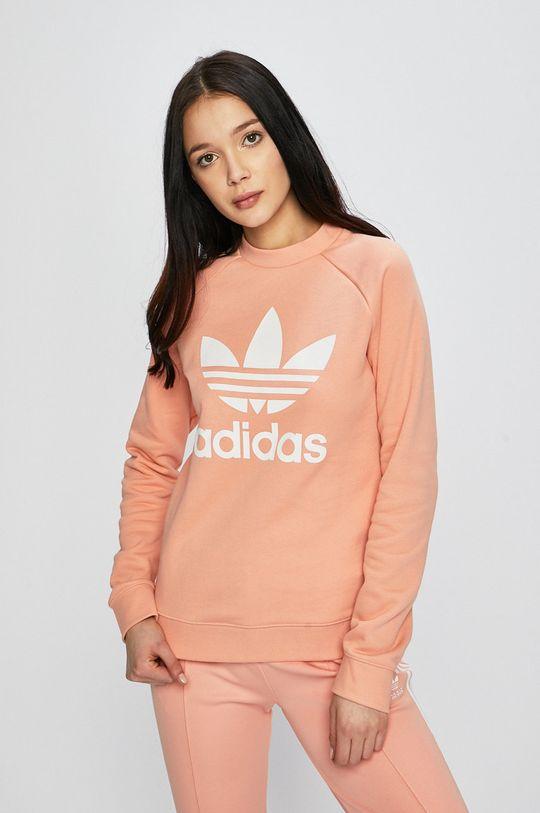 broskyňová adidas Originals - Mikina Dámsky