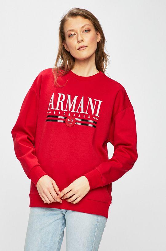 červená Armani Exchange - Mikina Dámsky