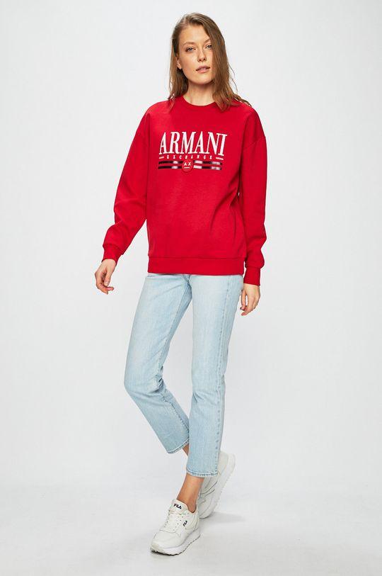 Armani Exchange - Mikina červená