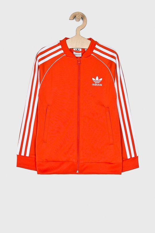 oranžová adidas Originals - Detská mikina 128-140 cm Dievčenský