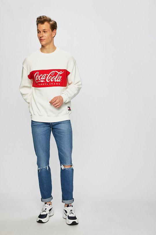 Tommy Jeans - Felső x Coca-Cola fehér