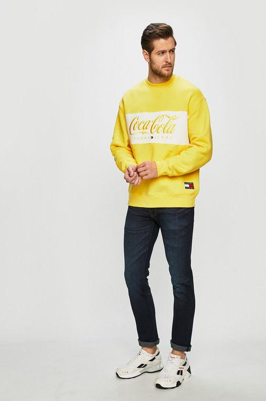 Tommy Jeans - Felső x Coca-Cola sárga