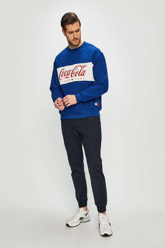 Tommy Jeans - Felső x Coca-Cola kék