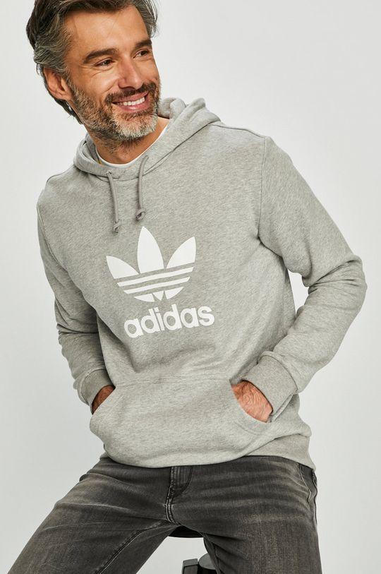 szary adidas Originals - Bluza Męski