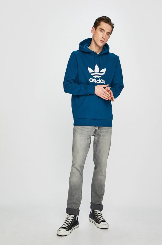adidas Originals - Mikina tmavě tyrkysová