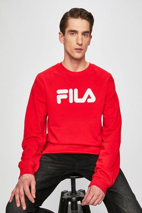 czerwony Fila - Bluza Męski