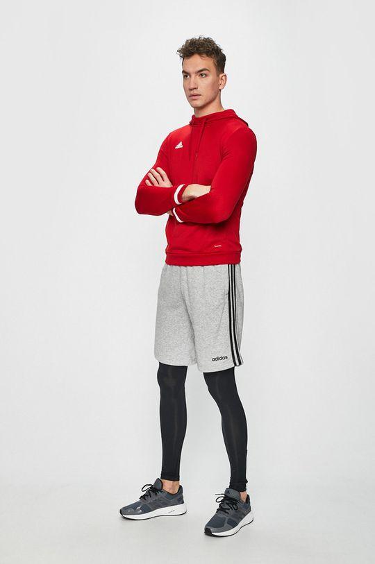czerwony adidas Performance - Bluza Męski