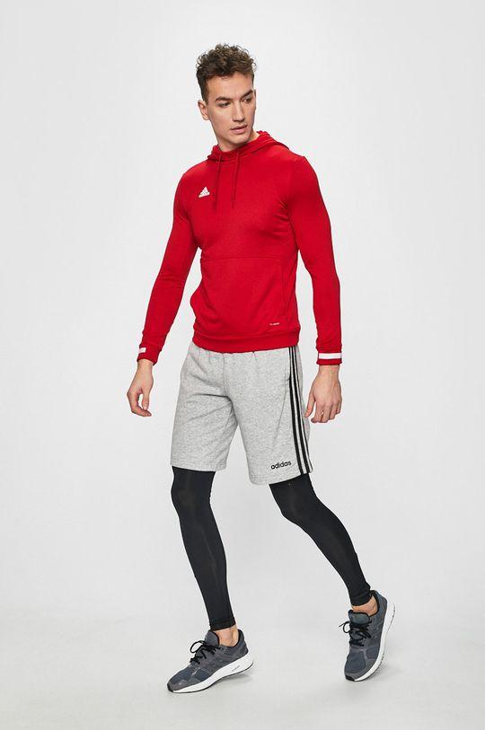 czerwony adidas Performance - Bluza