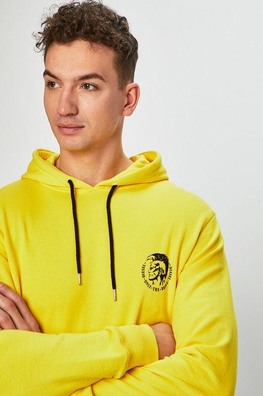 jasně žlutá Diesel - Mikina