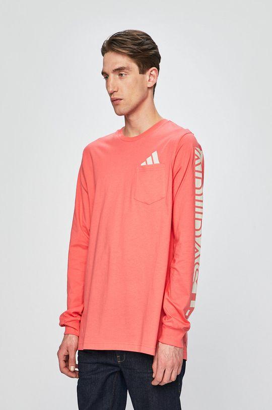koralová adidas Performance - Pánske tričko s dlhým rukávom Pánsky