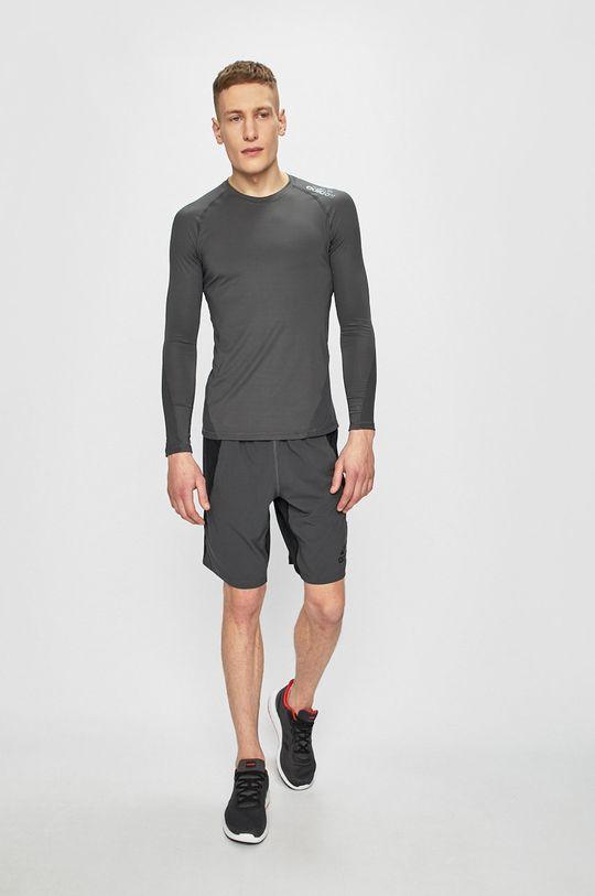 adidas Performance - Tričko s dlouhým rukávem šedá