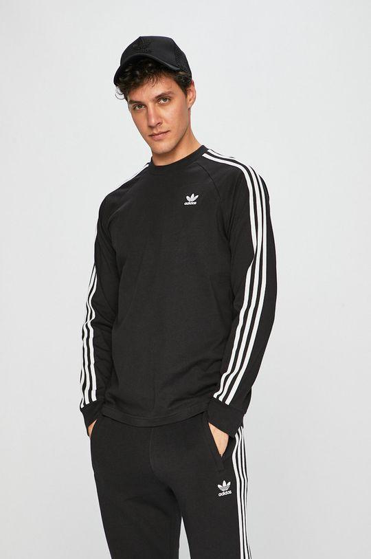 černá adidas Originals - Tričko s dlouhým rukávem Pánský