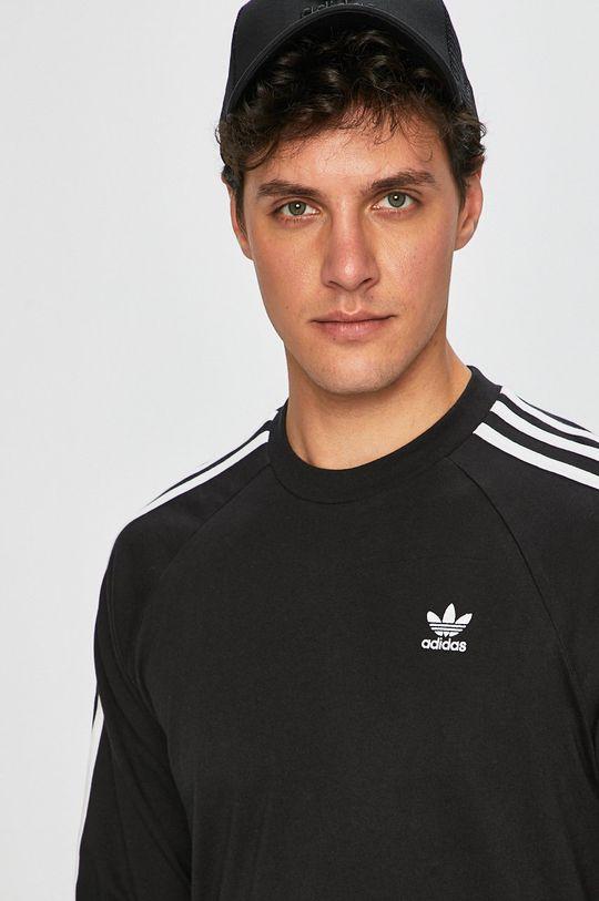 černá adidas Originals - Tričko s dlouhým rukávem