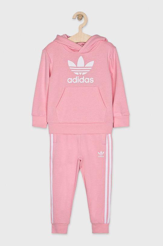 růžová adidas Originals - Dětská tepláková souprava Dívčí