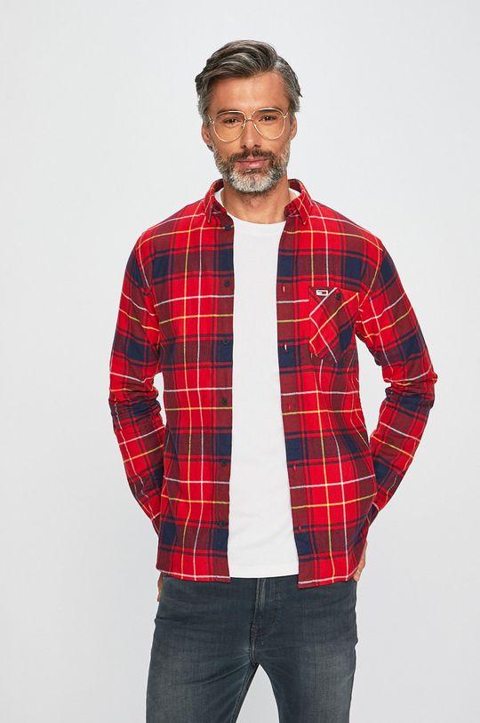 červená Tommy Jeans - Košeľa Pánsky
