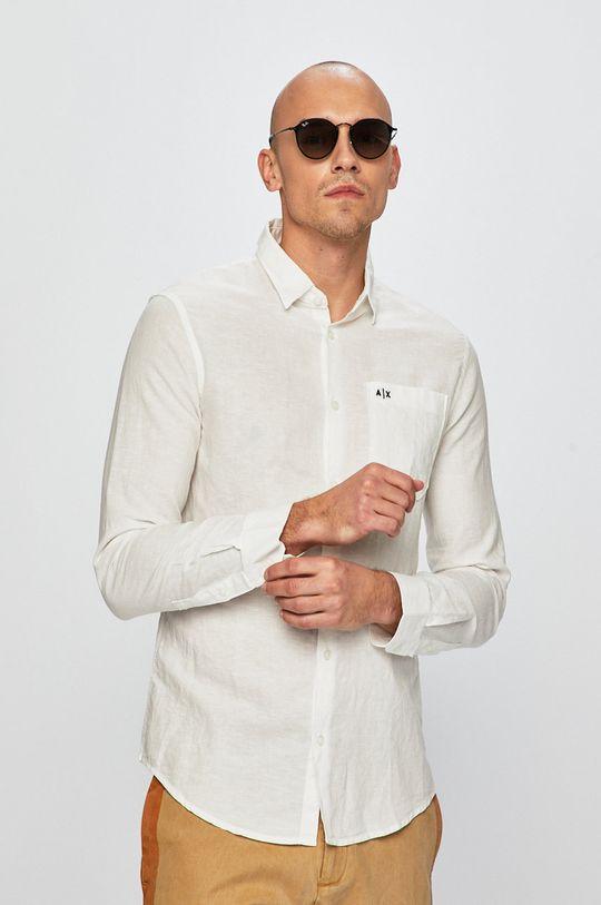 biela Armani Exchange - Košeľa Pánsky