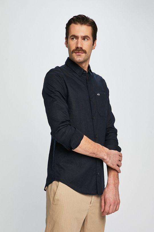 tmavomodrá Armani Exchange - Košeľa Pánsky