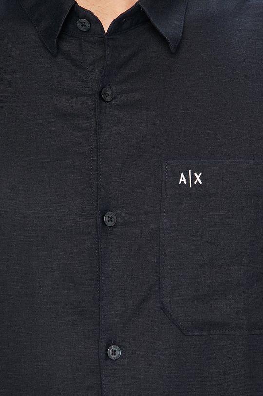 Armani Exchange - Košeľa tmavomodrá