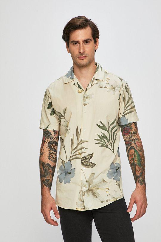 béžová Premium by Jack&Jones - Košeľa Pánsky