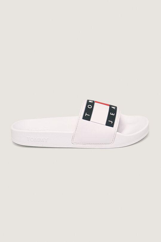 bílá Tommy Jeans - Pantofle Flag Pool Slide Dámský