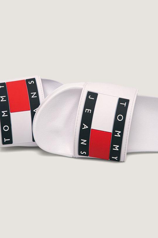 Tommy Jeans - Pantofle Flag Pool Slide Svršek: Umělá hmota Vnitřek: Umělá hmota, Textilní materiál Podrážka: Umělá hmota