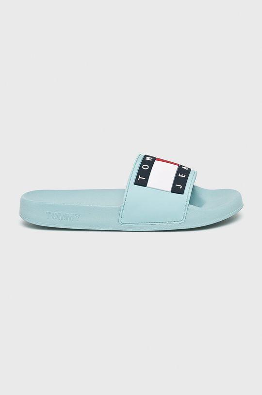 albastru deschis Tommy Jeans - Papuci Flag Pool Slide De femei