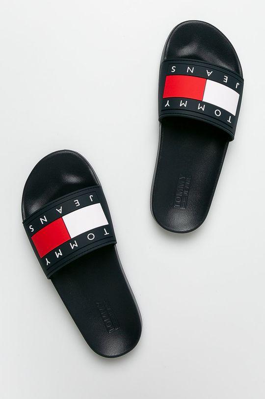 Tommy Jeans - Papucs cipő Flag Pool Slide sötétkék