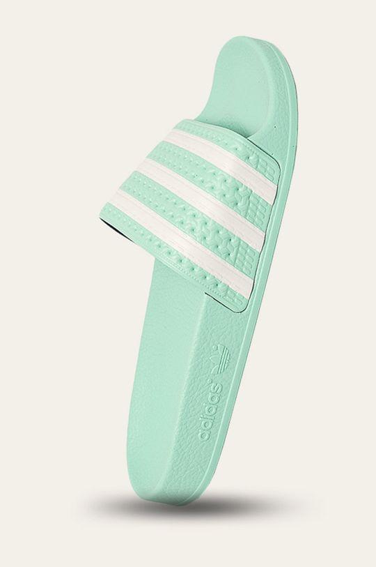 světle zelená adidas Originals - Pantofle