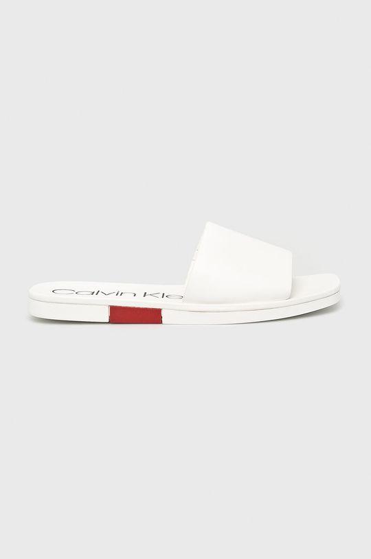 bílá Calvin Klein - Pantofle Dámský