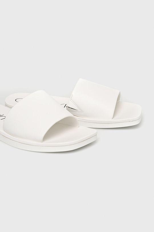 Calvin Klein - Pantofle bílá