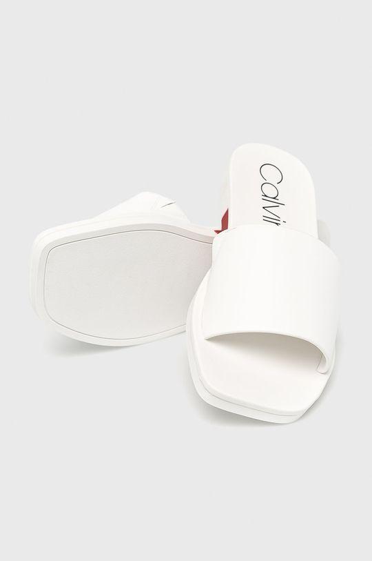 Calvin Klein - Pantofle Svršek: Přírodní kůže Vnitřek: Umělá hmota Podrážka: Umělá hmota