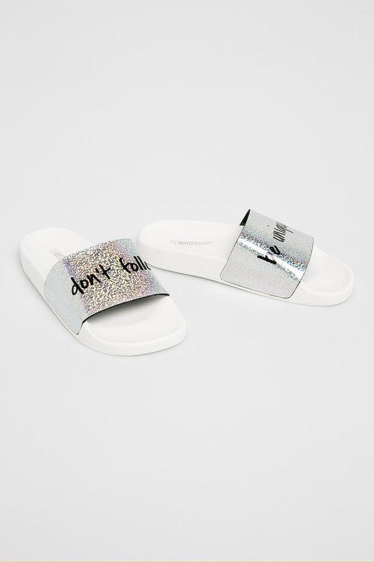 TheWhiteBrand - Papuci argintiu