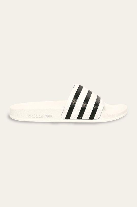 biały adidas Originals - Klapki Damski