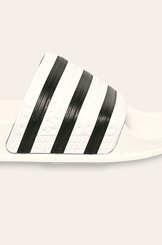biały adidas Originals - Klapki