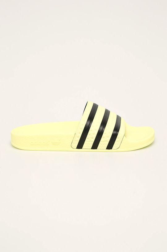 žltá adidas Originals - Šľapky Dámsky