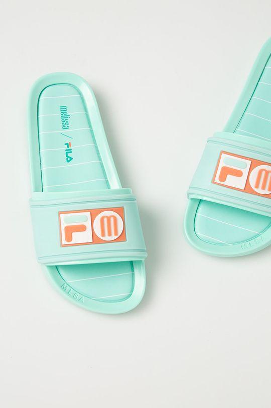 Melissa - Papuci x Fila menta