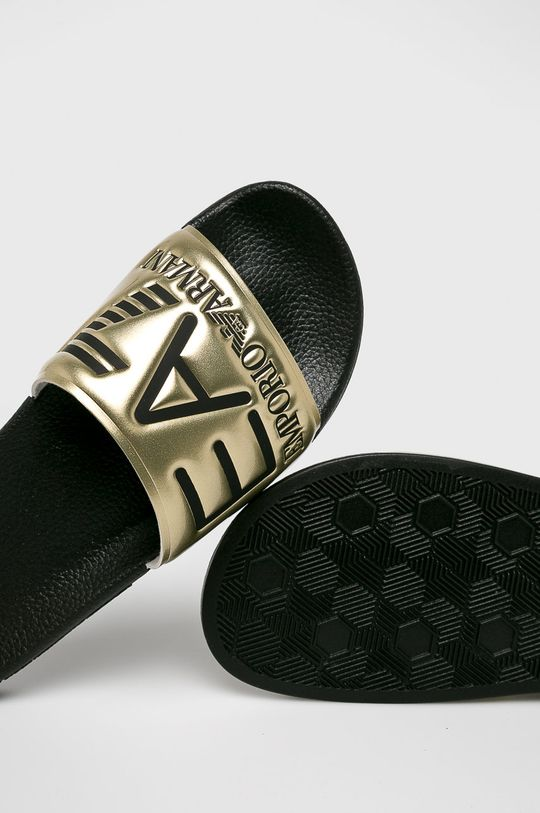 EA7 Emporio Armani - Šľapky zlatá