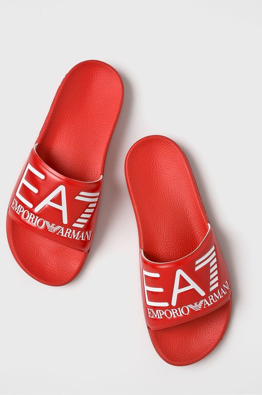 EA7 Emporio Armani - Šľapky červená