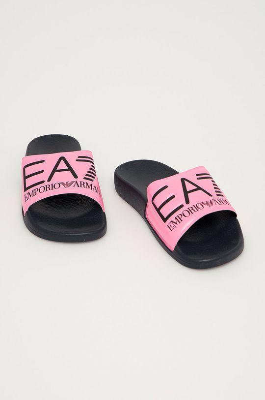 EA7 Emporio Armani - Klapki ostry różowy