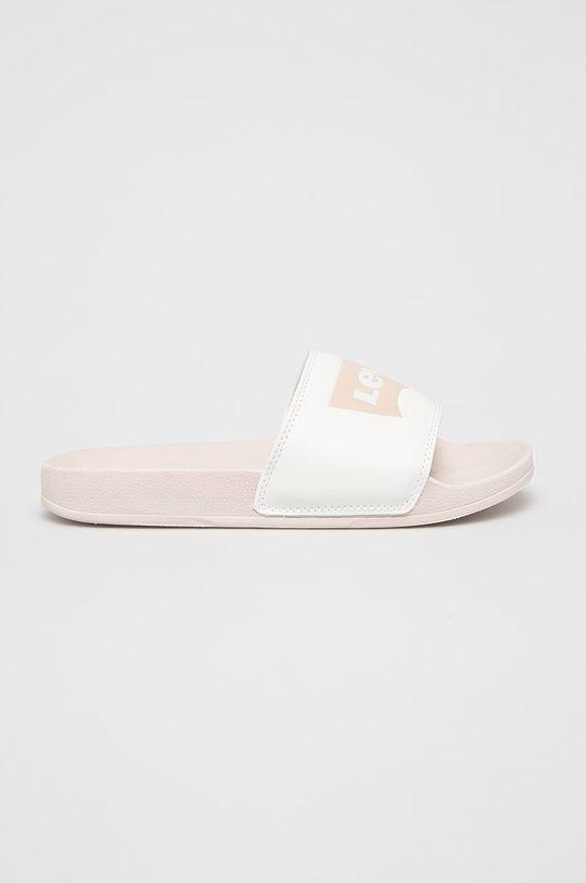 bílá Levi's - Pantofle Dámský