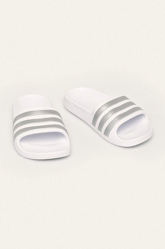 adidas Performance - Dětské pantofle bílá