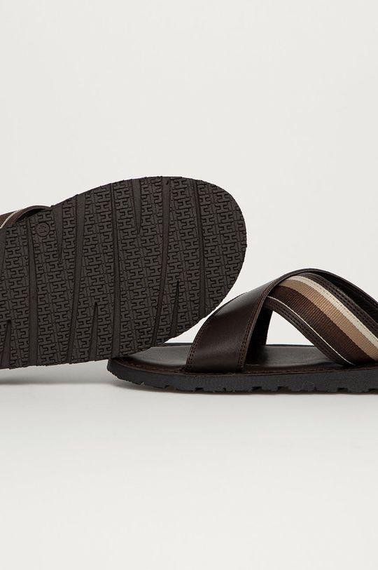 Tommy Hilfiger - Klapki Cholewka: Materiał tekstylny, Skóra naturalna, Wnętrze: Skóra naturalna, Podeszwa: Materiał syntetyczny