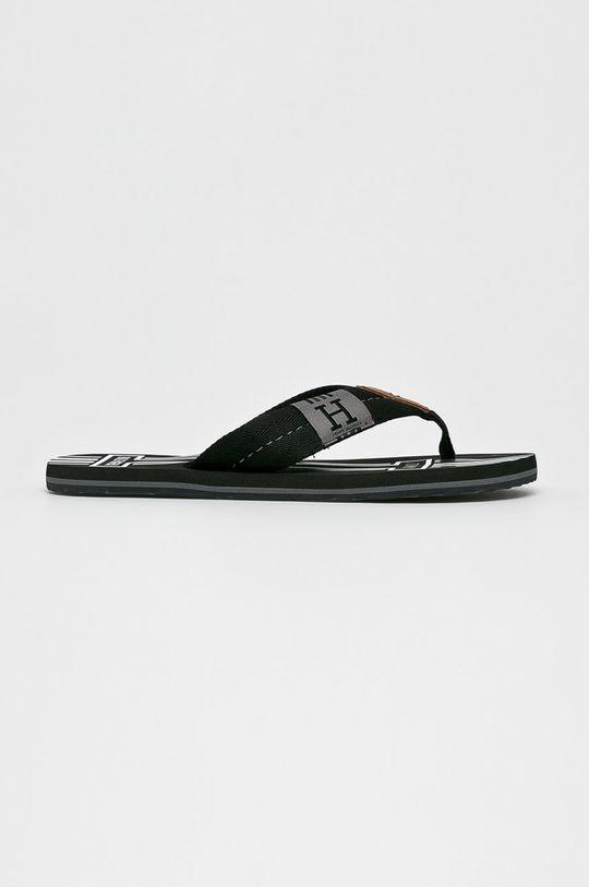 fekete Tommy Hilfiger - Flip-flop Badge Textile Beach Sandal Férfi