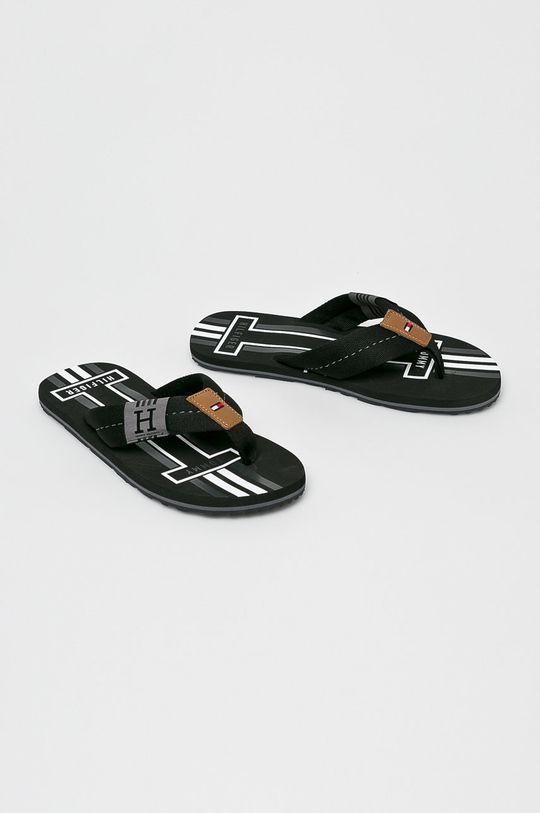 Tommy Hilfiger - Flip-flop Badge Textile Beach Sandal fekete