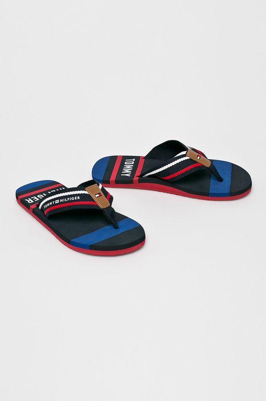 Tommy Hilfiger - Flip-flop Striped Beach sötétkék